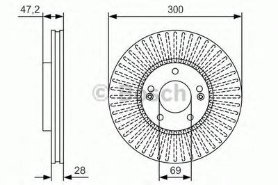 Гальмівний диск HYUNDAI Tucson/Sonata/ix35 '' F ''2,0i-2,0CRDI ''04>> PR2
