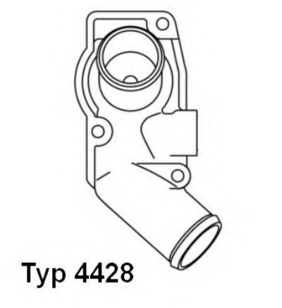 442892D WAHLER Термостат, охлаждающая жидкость
