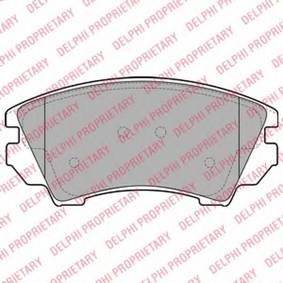 Колодки Тормозные Дисковые DELPHI LP2081 для авто CHEVROLET, OPEL, SAAB с доставкой