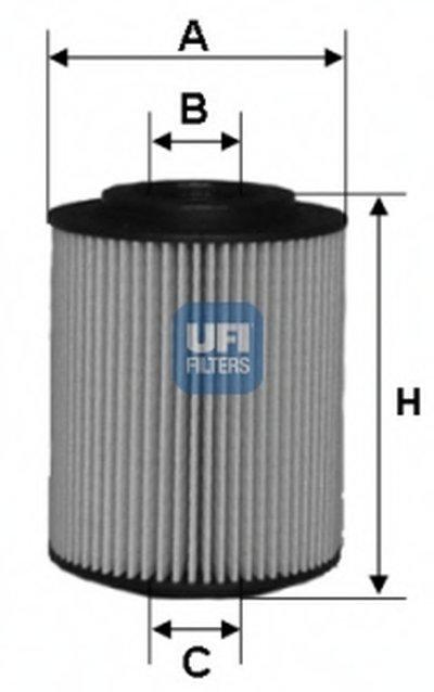 2502700 UFI Масляный фильтр