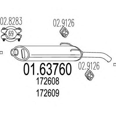 0163760 MTS Задняя часть выхлопной системы (Глушитель).