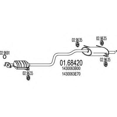 0168420 MTS Задняя часть выхлопной системы (Глушитель).