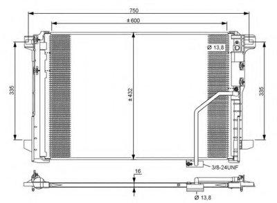 Конденсатор NRF 35793 для авто MERCEDES-BENZ с доставкой
