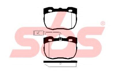 Комплект тормозных колодок, дисковый тормоз sbs купить