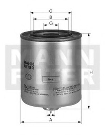 WK9406X MANN-FILTER Топливный фильтр