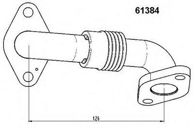 61384D WAHLER Трубка, клапан возврата ОГ