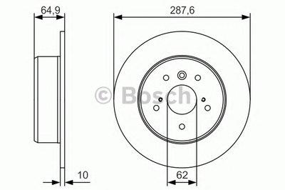 "Гальмівний диск TOYOTA Camry V10/V20/V30 ""R"