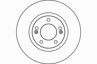 Диск тормозной передний стандартный HYUNDAI TEXTAR 92131000