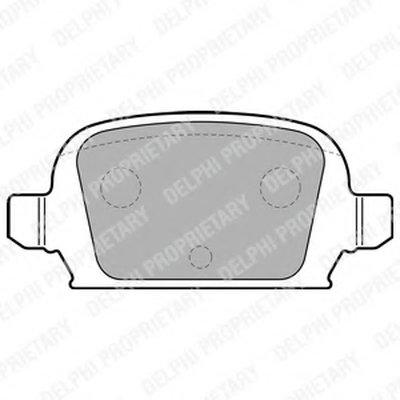 Тормозные колодки DELPHI LP1677 для авто OPEL с доставкой