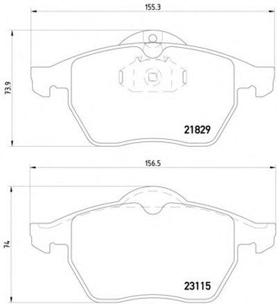 Фотография Комплект тормозных колодок, дисковый тормоз MINTEX MDB1813