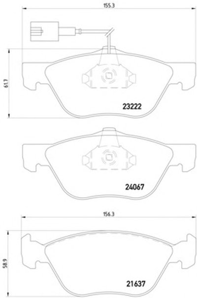 Фотография Комплект тормозных колодок, дисковый тормоз MINTEX MDB2133