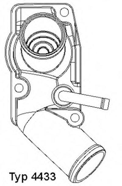 443392D WAHLER Термостат, охлаждающая жидкость