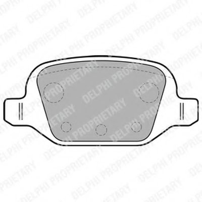 Колодки Тормозные Дисковые DELPHI LP1678 для авто ABARTH, CITROËN, FIAT, PEUGEOT с доставкой