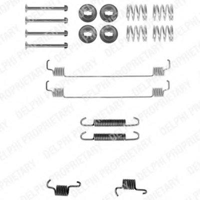 Ly1261_!ремк-Т Торм.колодок Зад. Renault Kangoo 1.21.41.5Cdi1.61.9Dti 97 DELPHI LY1261 для авто NISSAN, RENAULT с доставкой