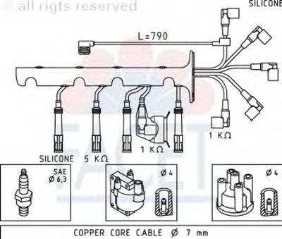 Комплект проводов зажигания FACET купить
