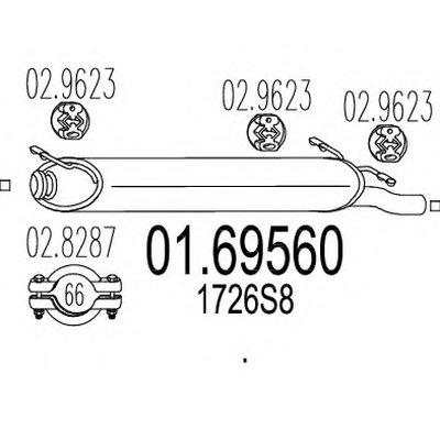 0169560 MTS Задняя часть выхлопной системы (Глушитель).