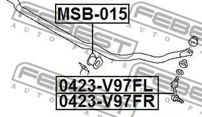 Втулка стабилизатора перед. подвески MITSUBISHI PAJERO IV/MONTERO V87W/V97W 06- (D29) FEBEST MSB015-1