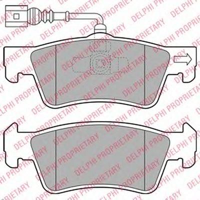 LP2086 DELPHI Комплект тормозных колодок, дисковый тормоз