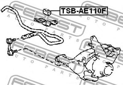 Втулка стабилизатора перед. подвески COROLLA AE110/EE110/CE110 95-01 (D20) FEBEST TSBAE110F-1