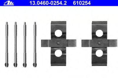 Комплектующие, колодки дискового тормоза ATE купить