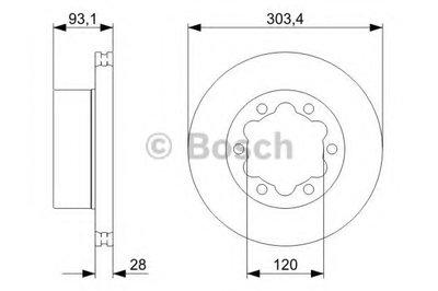 Гальмівний диск MB VW Sprinter 06>, Crafter 06>> R