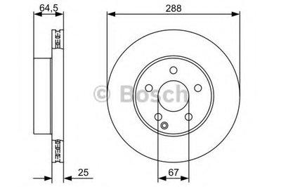 BOSCH 0986479406 Тормозной диск