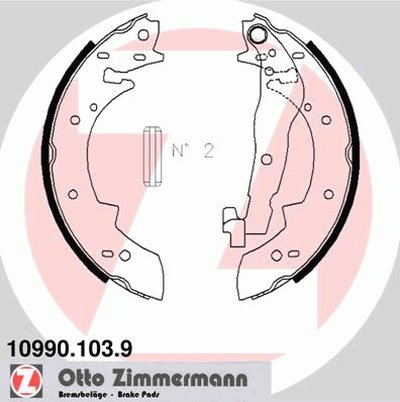 Комплект тормозных колодок ZIMMERMANN купить