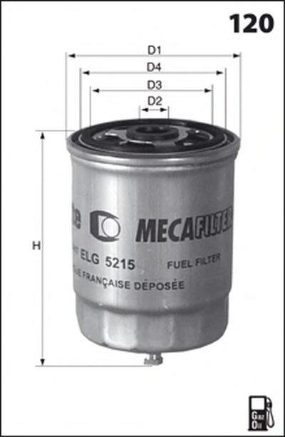 Топливный фильтр MECAFILTER MECAFILTER купить