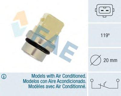 термовыключатель, сигнальная лампа охлаждающей жидкости FAE 35310 для авто AUDI, SEAT, SKODA, VW с доставкой