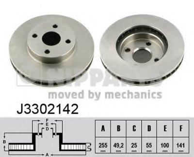 Торм.диск Пер.вент.255X25 4 Отв. Min2 NIPPARTS J3302142 для авто TOYOTA с доставкой