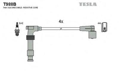 T988B TESLA Кабель зажигания, к-кт TESLA Opel Frontera A,B 2.2 98-