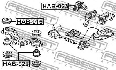 Подушка дифференциала зад. FEBEST HAB023