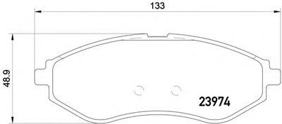 Фотография Комплект тормозных колодок, дисковый тормоз MINTEX MDB2637