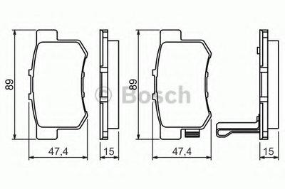Гальмівні колодки дискові HONDA NSX 3.0i, Legend 3.2i,Accord,Civic/ROVER 600 -01