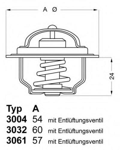 Термостат, охлаждающая жидкость; Термостат, охлаждающая жидкость WAHLER купить