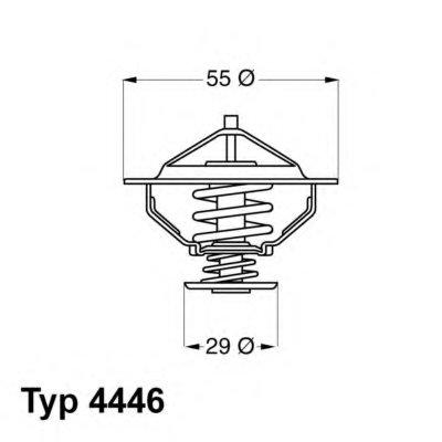 444683D WAHLER Термостат, охлаждающая жидкость