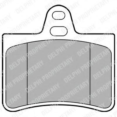 Колодки Тормозные Дисковые DELPHI LP1680 для авто AUDI, CITROËN с доставкой