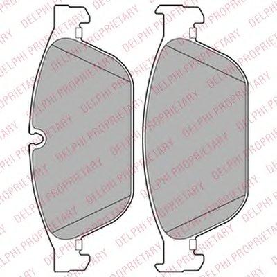 Фотография Комплект тормозных колодок, дисковый тормоз DELPHI LP2292