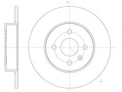 Диск тормозной OPEL COMBO 01- задн. (пр-во REMSA)