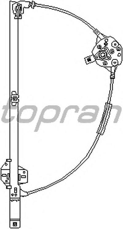 Склопiдiймач лівий TOPRAN 111717 для авто VW с доставкой