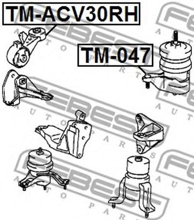 Опора двигуна FEBEST TMACV30RH-1