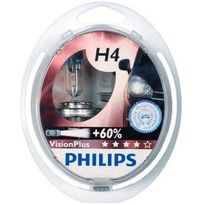 12342VPS2 PHILIPS (к-кт 2шт) Лампа H4 12V 60/55W P43T-38к-т VisionPlus (+50% more light) упаковка блістер-3