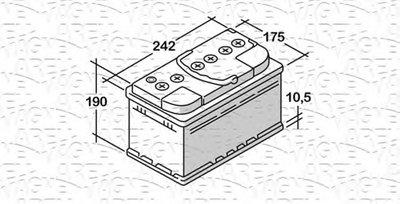 Стартерная аккумуляторная батарея; Стартерная аккумуляторная батарея RUN MAGNETI MARELLI купить