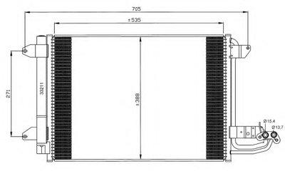 Радиатор кондиционера EASY FIT NRF 35520 для авто AUDI, SEAT, SKODA, VW с доставкой