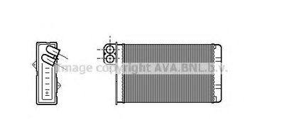 Радиатор печки +/-A +/-AC [OE. 6448.J6]