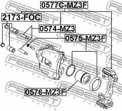 Ремкомплект Направляющих Переднего Суппорта FEBEST 2173FOC для авто AUDI, BMW, KIA, LAND ROVER, MERCEDES-BENZ, MINI, SEAT, SKODA, VW с доставкой-1