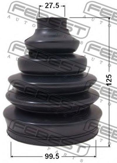 Пыльник Шрус Наружный Комплект 99.5X125X27.5 FEBEST 2317PT5 для авто AUDI, SEAT, SKODA, VW с доставкой-1