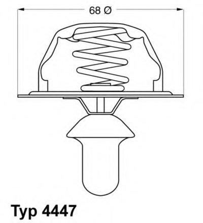 444780D WAHLER Термостат, охлаждающая жидкость