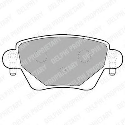 Тормозные колодки DELPHI LP1682 для авто FORD, JAGUAR, RENAULT с доставкой