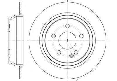 Диск тормозной MB VIANO(W639) 09/03- VITO BOX(W639) 09/03- VITO BUS(W639) 09/03- задн. (пр-во REMSA)